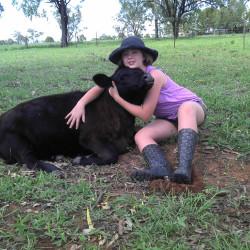 SKG daughter and calf
