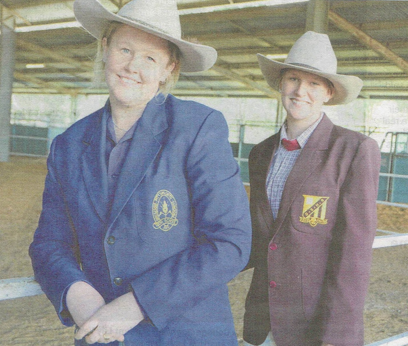 Riley Clancy (left), from Pittsworth State High School, who was awarded the trip to New Zealand & Sarah Wirth, from Dalby State High School, who won the Junior Judging competition.